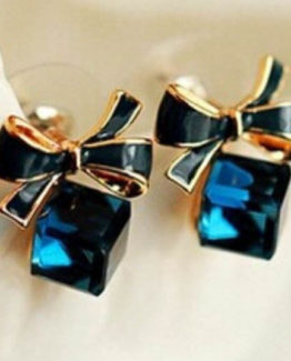 Cute stud earrings with a bow