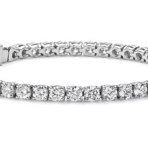 Gold Plated Tennis Bracelet made with Swarovski Elements