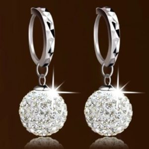 Pretty Princess Ball Sterling Silver Women Earrings