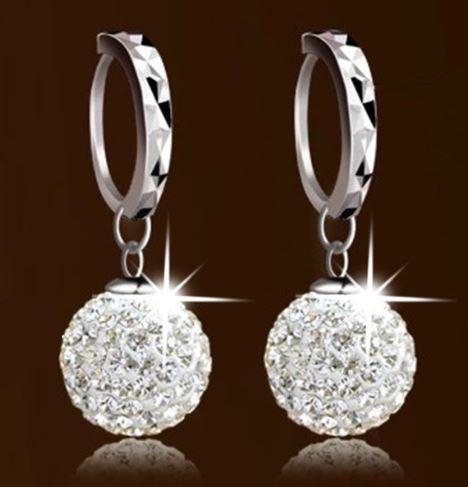 Pretty Princess Ball Sterling Silver Women Earrings