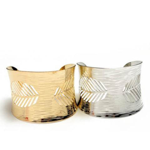 Cuff Bracelet Leaf Design - Bath Body Beyond